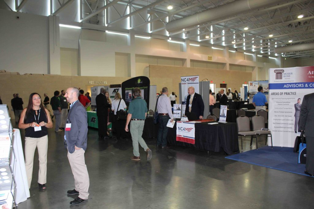 The trade show allowed vendors and suppliers to demonstrate their products and services and make new connections.