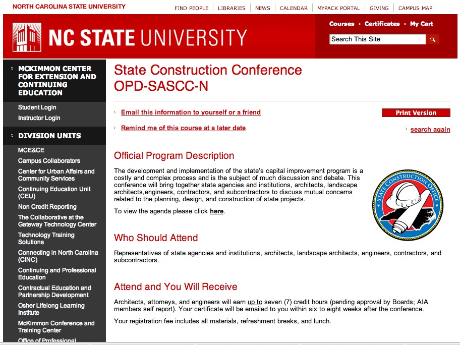 NC State Construction Conference