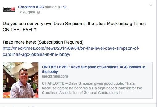 Dave Simpson facebook cagc