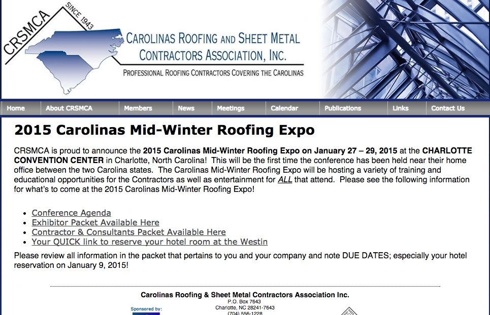 carolinas roofing expo