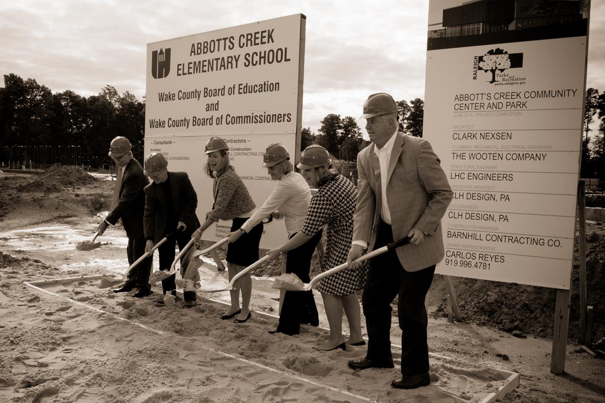 Abbotts Creek groundbreaking