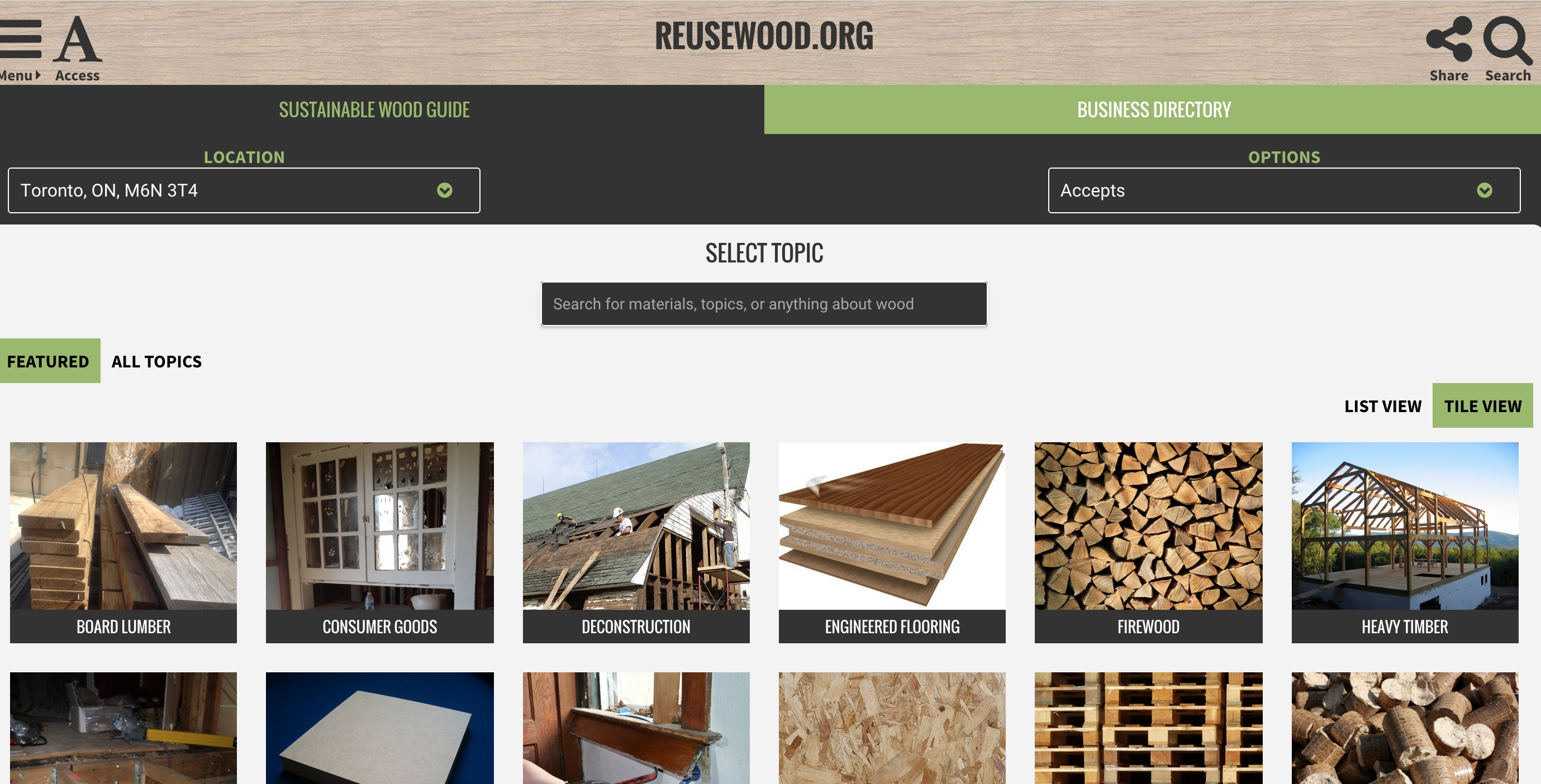 reusewood