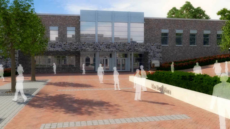 A rendering of the Scott Family Pavilion (Duke University)