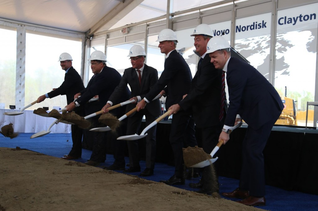 The ground breaking ceremony (image from Clayton municipal website)