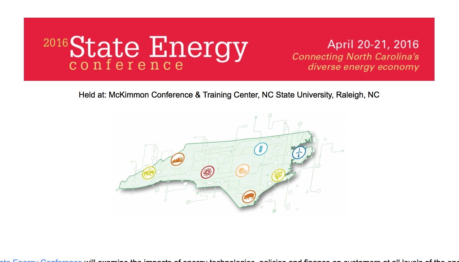 State energy conference NC