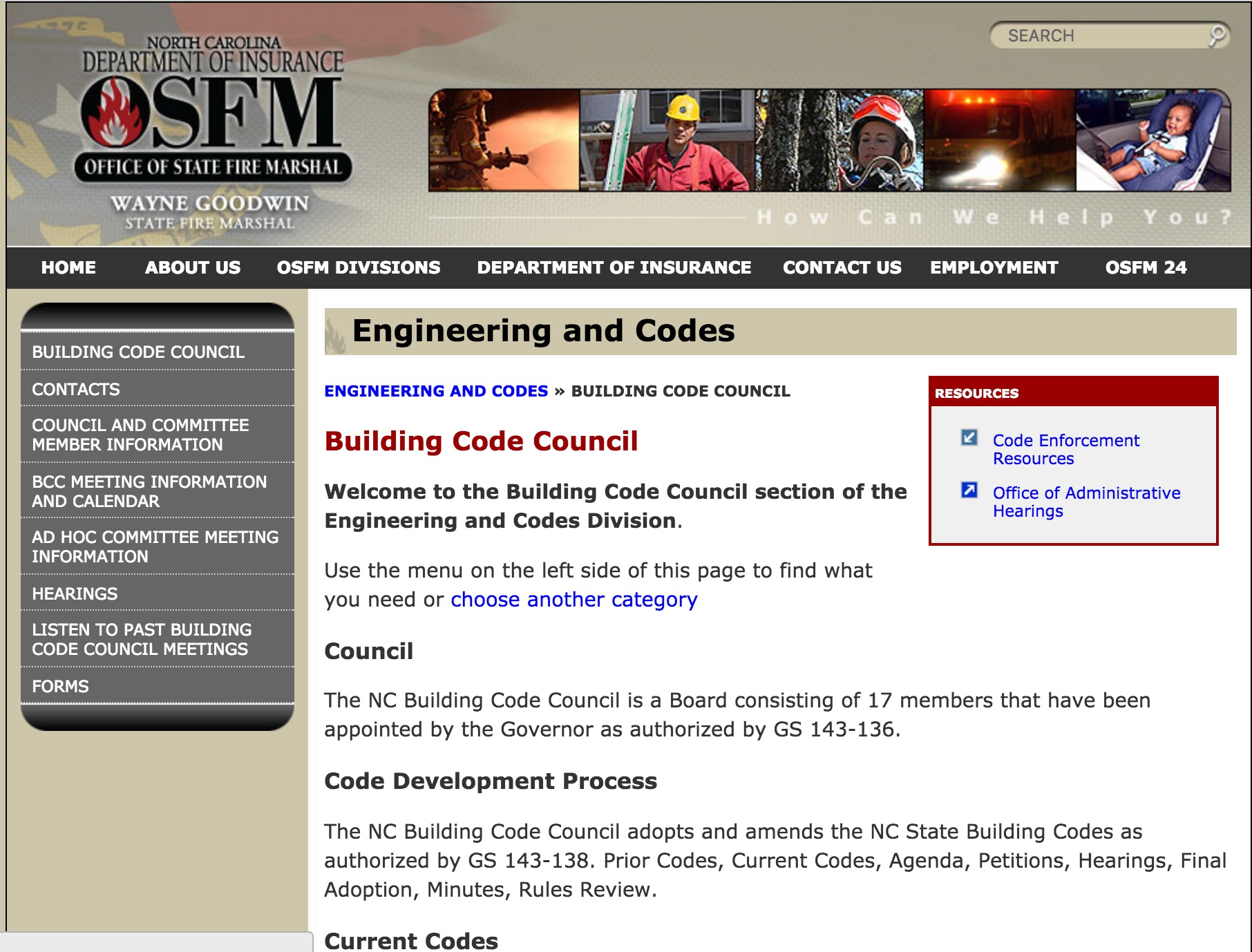 NC Building Code review