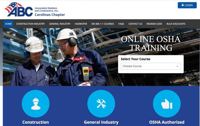 ABC OSHA courses online