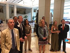 AGC leaders attending Capitol tour.