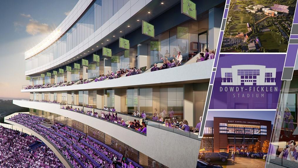 rendering stadium ecu
