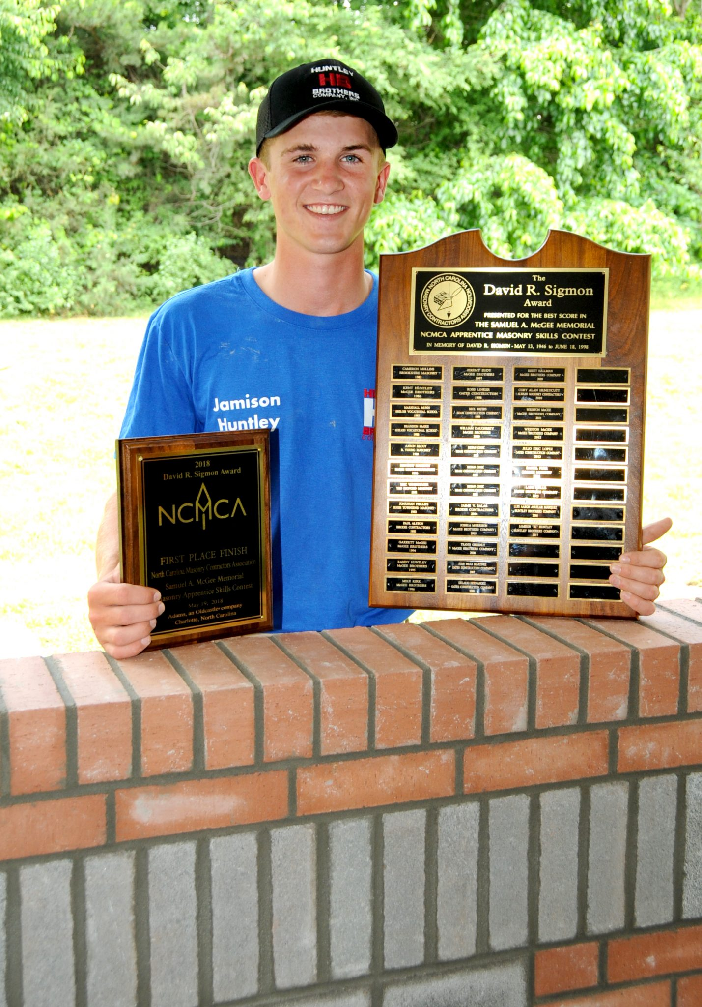 Jk Huntley Repeats Success In Annual Ncmca Masonry Apprentice Skills Contest North Carolina Construction News