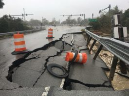road damage new bern