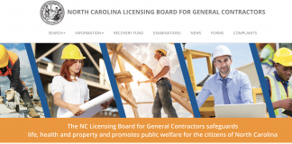 NC GC licensing board