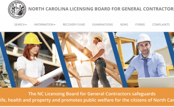 NC GC licensing board