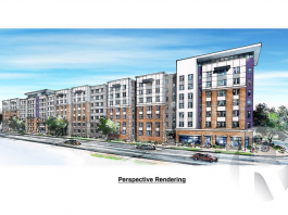 rendering greenville student housing project