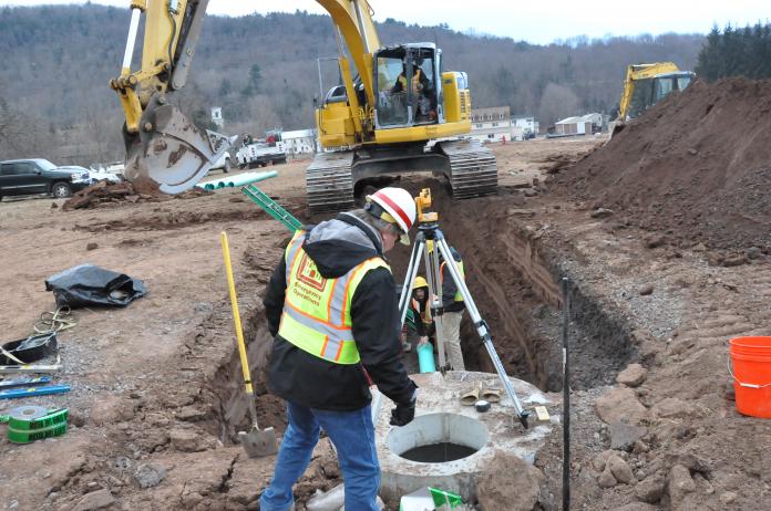 stock image sewer installation