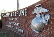 camp lejueune sign