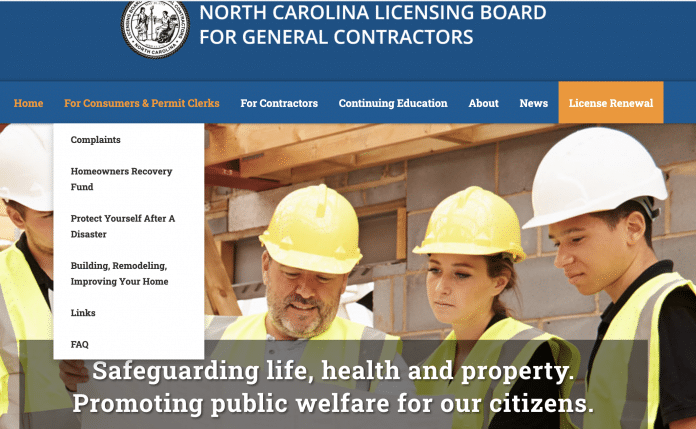 nc licensing board general contractors