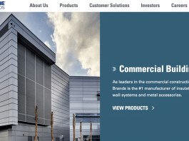 Cornerstone Building Brands webpage