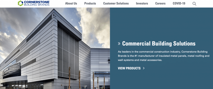 Cornerstone Building Brands webpage
