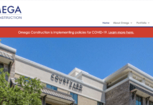 Omega Construction's website