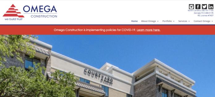 Omega Construction's website