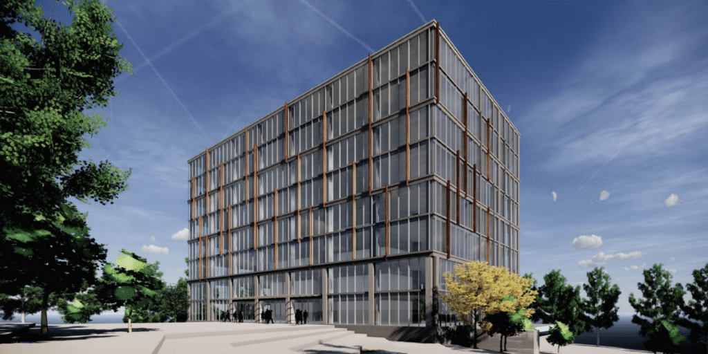 office structure rendering Zoning